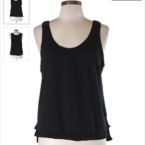 LOU & GREY | black knit tank top L